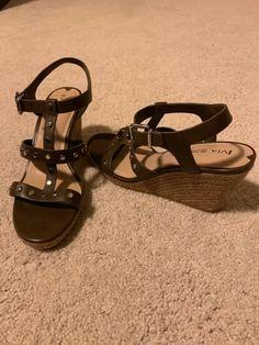 1efdf7743 Via Spiga grey taupe espadrille wedge sandals - worn once for 30 mins at  home