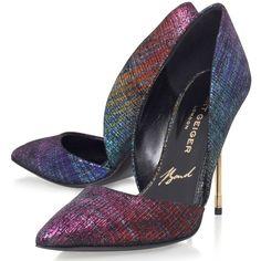Kurt Geiger Bond B Series Leather Cigarette Heel Court Shoes , Multi (23.940 RUB) via Polyvore