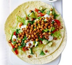 Roasted chickpea wraps