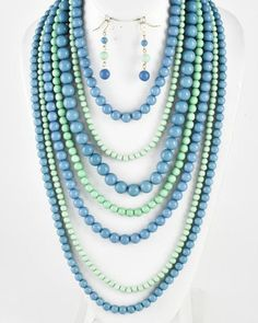 Beaded Waterfall Necklace and Earrings - Krimson and Klover a Women's Clothing Boutique