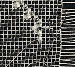 """""""In some vintage filet that is very small, it is made with a sewing needle rather than a hook. If you look closely at the bars, you'll see it's not a crochet chain, but two strands of thin tatting thread looped together. This is called Le Filet, au Point de Toile technique. Vintage patterns separate the two methods by calling the needle technique """"Filet"""" and the hook technique """"Filet Crochet."""""""