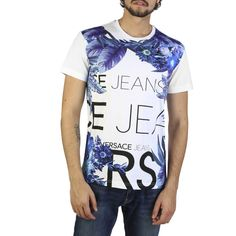 Versace Jeans White Cotton T-shirts RRP Gender:Man - Type:T-shirt - Sleeves:short - Neckline:round - Material:cotton - Washing:hand wash - Model height, - Model wears a size:M - Details:appliques, visible logo. Versace Jeans T Shirt, White Cotton T Shirts, Best Mens Fashion, Tee Shirts, Tees, Models, Mannequin, Shirt Sleeves, Mens Tops