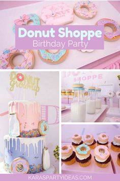 Explore the Word of Birthday Party Ideas 2nd Birthday Party Themes, Donut Birthday Parties, Birthday Party Decorations, Birthday Ideas, Carnival Birthday, Birthday Design, 10th Birthday, Happy Birthday, Donut Party