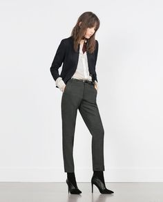 ZARA - COLLECTION SS16 - MICRO-JACQUARD TROUSERS