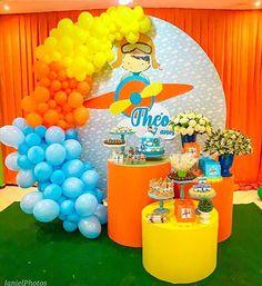 Planes Birthday, Baby Boy 1st Birthday Party, Birthday Themes For Boys, Baby Party, Time Flies Birthday, Birthday Balloon Decorations, Airplane Party, Bernardo, Instagram