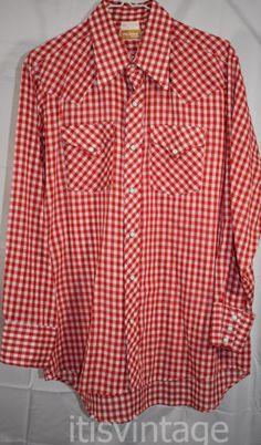24710a31 Vintage Karman Country Western Kenny Rogers Plaid Black Red Pearl Snap Shirt  XL #Karman #Wes…   Western Pearl Snap Button Downs Vintage Shirts Clothing  ...