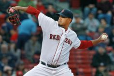 Red Sox starting pitcher Felix Doubront fires a first inning pitch.