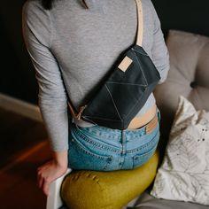ANT GREY hip bag /by MOOSEdesignBAGS