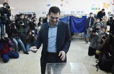 Athens (AFP) – Radical left wing party Syriza won Greece's general election on Sunday in a victory that could impact the course of austerity in Europe, exit polls showed. Syriza took between 35.5 percent and 39.5 percent of the vote, according to the polls, compared to between 23 percent and [...] Austerity, Left Wing, Athens, Victorious, Greece, Sunday, Politics, Europe