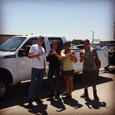 Angie with her hubby's BRAND NEW 2015 Ford F-250!