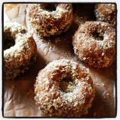Pumpkin coconut baked donuts