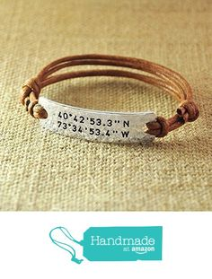 Personalized Rope Bracelet, Alloy Hammered Bracelet, Custom Longitude & Latitude, Stamped GPS Bracelet, Engraved Coordinates, Valentine's Gifts For Her from LOVEhandmade http://www.amazon.com/dp/B01APBE7RA/ref=hnd_sw_r_pi_dp_j61uxb08A087D #handmadeatamazon