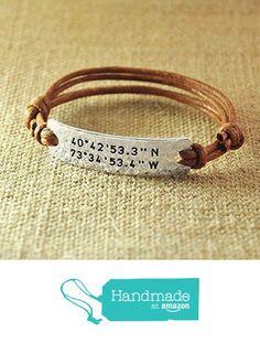 Personalized Rope Bracelet, Alloy Hammered Bracelet, Custom Longitude & Latitude, Stamped GPS Bracelet, Engraved Coordinates, Valentine's Gifts For Her from LOVEhandmade http://www.amazon.com/dp/B01APBE7RA/ref=hnd_sw_r_pi_dp_j61uxb08A087D #handmadeatamazon