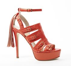 Caballia Coral high heel sandals with tassels