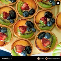 Little fruit tarts / desserts - an alternative to a big cake - consider a 'dessert buffet' or reception for post-dinner or afternoon tea