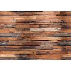 Brewster Wallcovering Wall Murals Faux Finish Textures Murals at Lowe's. You don't have to live in a luxurious loft apartment to enjoy the rustic beauty of a reclaimed wood wall! Beautifully constructed, this industrial Look Wallpaper, Brick Wallpaper, Peel And Stick Wallpaper, Embossed Wallpaper, Photo Wallpaper, Adhesive Wallpaper, Reclaimed Wood Wall Art, Rustic Wood Walls, Wooden Walls