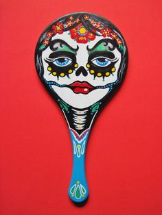 Day of the Dead Tattoo Hand MIRROR Mexican Folk Art. $73.00, via Etsy.