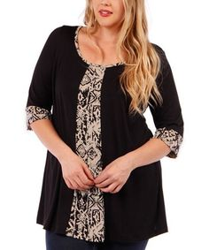 Great upcycle idea for a shirt refashion that s too small black taupe abstract panel scoop neck tunic plus many useful tips Sewing Clothes, Diy Clothes, Diy Vetement, Diy Fashion, Womens Fashion, Looks Plus Size, Moda Casual, Shirt Refashion, Altering Clothes