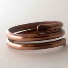#Metal_Artistry on Artfire                          #ring                     #Unisex #copper #coil #ring #size #10.75            Unisex copper coil ring size 10.75                                            http://www.seapai.com/product.aspx?PID=1289244