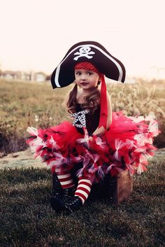 Beautiful girl's pirate costume by Laurie's Tutu Boutique. Takes 8 to 10 weeks from order to delivery.