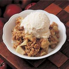 Winning Apple Crisp -- A definite winner in my book!  I love serving this in the fall to friends and family.  I always add a bit more cinnamon than the recipe calls for (because cinnamon is simply wonderful).  I've also debated making a half-recipe more of the crumb mixture...I'll have to try it and see if that's a good or bad idea :-)