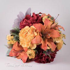 Fall wedding bouquet, Fall bridal bouquet, Fall silk wedding bouquet, Fall silk bridal bouquet,  Fall Boho bouquet, Orange bridal bouquet, Silk Bridal Bouquet, Silk Wedding Bouquets, Fall Wedding, Floral Wreath, Wreaths, Boho, Orange, Unique Jewelry, Handmade Gifts