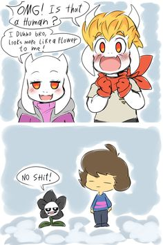 The Goat-blings Meet Frisk And Flowey!Gaster by thegreatrouge on DeviantArt