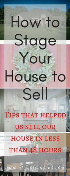 7 Tips for Staging Your House + free printable! - A Life of Seasons Sell Your House Fast, Selling Your House, Home Staging Tips, Home Buying Tips, Up House, Buy My House, Real Estate Tips, Moving House, Home Improvement Projects