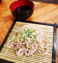 Cold Soba Noodle with dipping sauce recipe