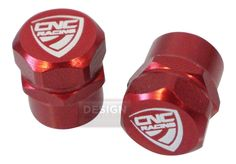 Universal CNC Racing Motorcycle Aluminum Anodised Wheel Valve Dust Caps Red