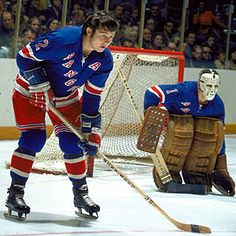 Brad Park is often remembered as the second-best NHL defenseman of the … and Steady Eddie Giacomin to boot. Rangers Hockey, Hockey Goalie, Hockey Teams, Park Rangers, Hockey Rules, Bruins Hockey, Hockey Stuff, Sports Teams, Brad Park
