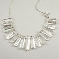 Fortress of Solitude necklace in crystal and sterling