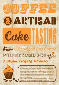 Coffee and Cake Tasting Poster Cake Tasting, Zine, Graphic Design, Coffee, Blog, Poster, Decor, Kaffee, Decoration