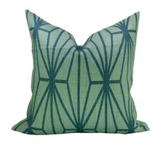 This listing is for one Katana Jade/Teal pillow cover. DESCRIPTION Designer: Kelly Wearstler for Groundworks/Lee Jofa Colors: Jade background, teal Teal Pillow Covers, Green Throw Pillows, Pillow Inserts, Hide Computer Cords, Neutral Sofa, Life On Virginia Street, Modern Pillows, Decorative Pillows, Kelly Wearstler