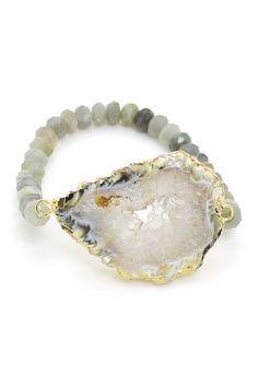 Agate Stone My Wrist Stretch Bracelet