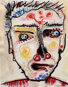 30% off sale for 4 days only Original LABEDZKI Painting Outsider Art Sir 10 5x13 5 in Mixed Media on Paper | eBay