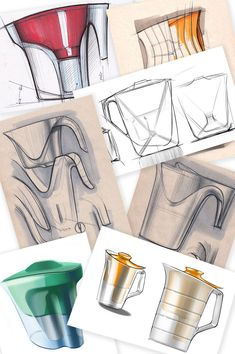 The making of the Twist pitcher for Barrier water filters Pop Design, Design Lab, Sketch Design, Design Concepts, Layout Design, Graphic Design, Design Thinking Process, Design Process, Portfolio Layout