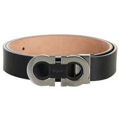 Salvatore Ferragamo Adjustable Belt Men's Belts - Nero
