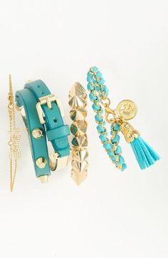 Cara & Nadri Bracelets available at Jewelry Box, Jewelery, Jewelry Accessories, Fashion Accessories, Layered Jewelry, Stackable Bracelets, Statement Jewelry, Costume Jewelry, Nordstrom