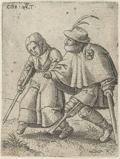 """""""Dancing beggars"""", 1538, Cornelis Massijs (1508-1560), Museum Boijmans Van Beuningen"""