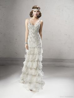 2014 Fashion New Luxury A-Line White Organza Heavily A-Line Wedding Dresses | Buy Wholesale On Line Direct from China