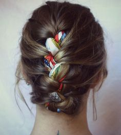 hair braid with fabric