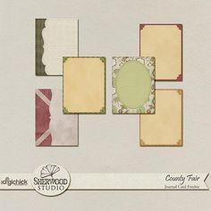 Quality DigiScrap Freebies: Country Fair journal cards freebie from Sherwood Studio