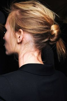 Hair Inspiration: The Effortless Knotted Bun