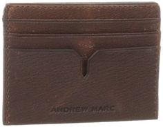 ANDREW MARC Andrew Marc Men's Bowery Slim Cardcase. #andrewmarc #bags #leather #lining #