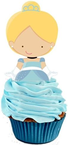 Items similar to Your Cupcake is Her Dress Princess Cinderella Cupcake Toppers Birthday Party Decorations Set of 12 Unique and very cute on Etsy Cinderella Cupcakes, Princess Cupcake Toppers, Cinderella Theme, Cinderella Birthday, Princess Cupcakes, Princess Party, Princess Birthday, Cupcakes Princesas, Disney Cakes