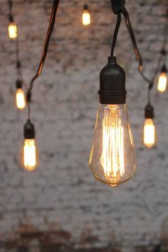 "Light Bulbs On A String Prepossessing String Lights Vintage Edison Style Light Bulbs 120""l Clear Or Purple Design Ideas"