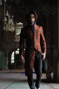 Kazim - this can be an overcoat-type sherwani to match Nida's outfit? Naushemian Summer 2013 New Groom Sherwani Collection