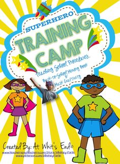 Free for a limited time! Superhero Training Camp: Teaching Procedures, Back-to-School Memory Book & Mask Craftivity