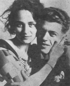 Rene Magritte and his muse Georgette. They were married for 45 years